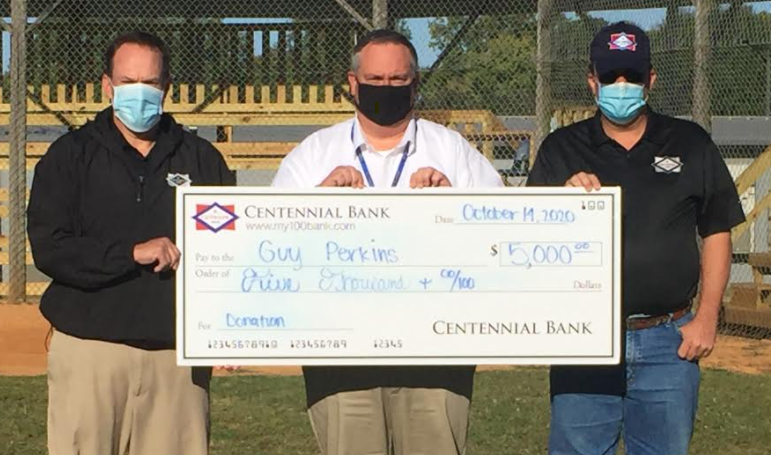 Centennial Bank Donates $5,000 to District
