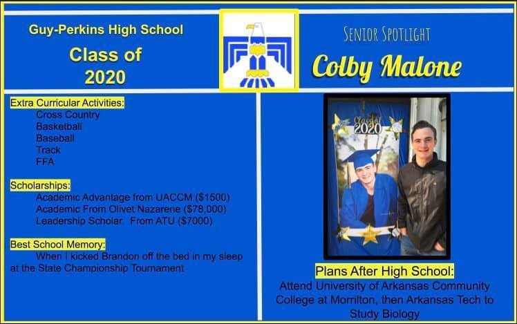 Colby Malone Senior Spotlight