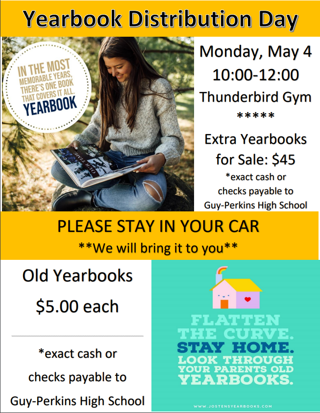 Yearbook Pickup Flyer