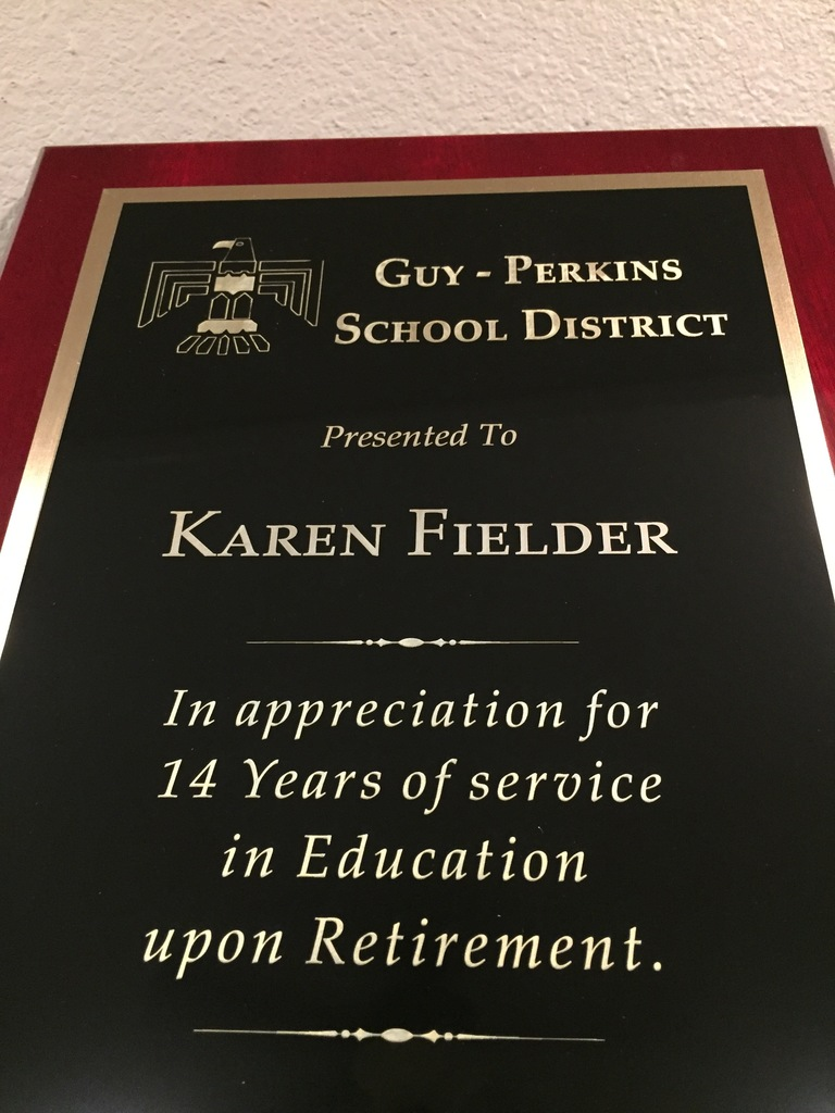 Fielder Plaque
